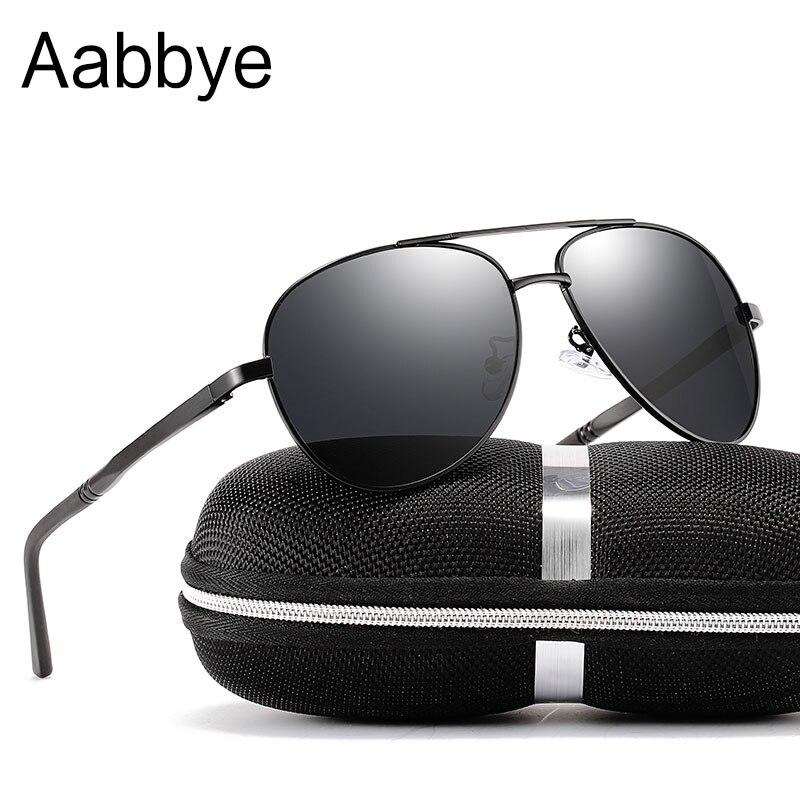 Aabbye Quality Oversized Fashion Aviation Sunglasses For Women Men Pilot Driving Eyewear Black Frame Mirrors Sun Glasses