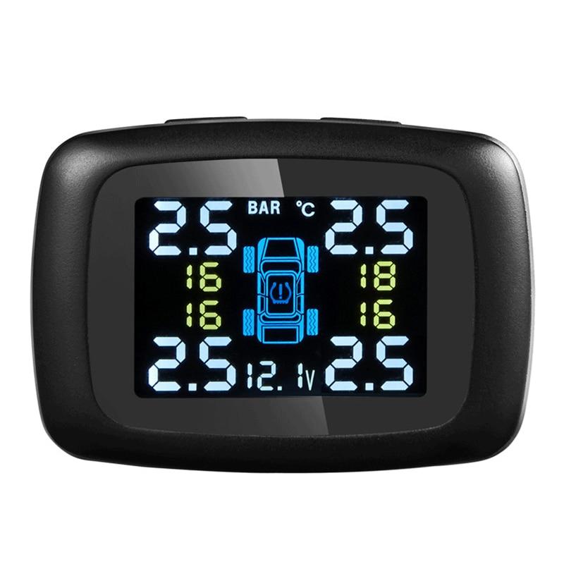 デジタルtpmsツールタイヤ圧力センサー煙電源12ボルト充電器車の警報alarmeユニバーサルワイヤレス監視システムセンサー  グループ上の 自動車 &バイク からの タイヤ圧 警報 の中 2