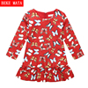 Happy New Year Elegant Dresses For Girls Winter 2016 Cotton Festive Girls Costumes Long Sleeve Princess