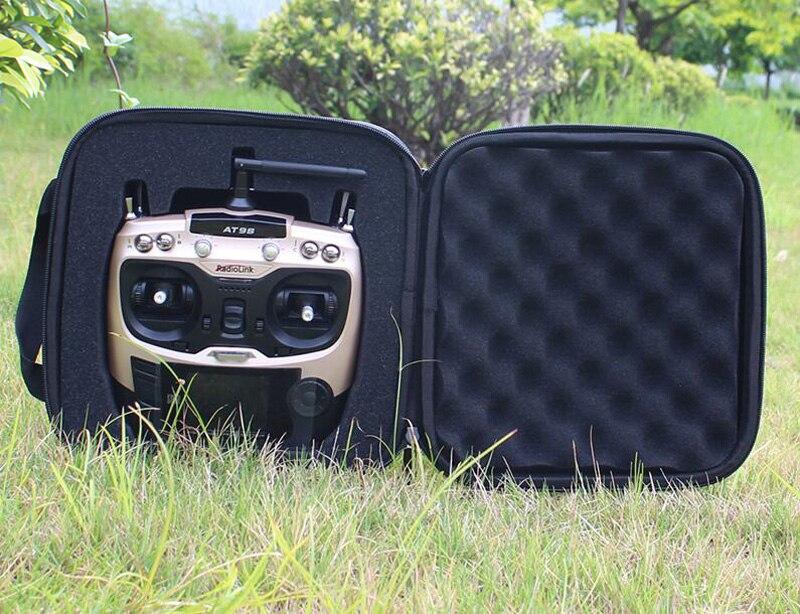 1pc FPV RC Waterproof Transmitter Handbag Case for Radiolink WFT07 WFT09S ET07 AT9 FrSky X9D Remote Controller Storage Bag Box