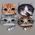 New Cute Cat Face Zipper Case Coin Purse female Wallet / child purse Makeup Buggy Bag Pouch,SKU 0311A