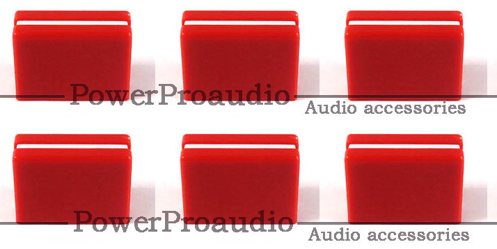 6 Pcs REPLACEMENT FADER CROSSFADER KNOB DJM800 DJM700 DJM400 DJM5000 DAC2371 Red Color