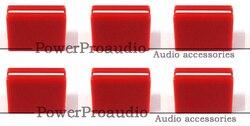 6 sztuk wymiana FADER CROSSFADER pokrętło DJM800 DJM700 DJM400 DJM5000 DAC2371 czerwony kolor w Akcesoria do sprzętu DJ od Elektronika użytkowa na