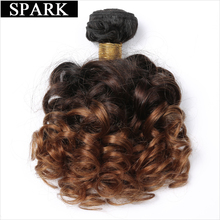"Spark Bouncy Curly Hair 3 Tone Ombre Brazilian Hair Weave Bundles 12-26"" T1B/4/30 Remy Human Hair Extensions Auburn Hair Weaving(China)"
