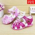 2016 Nova Chegada do Verão Fresco Do Bebê Meninas Sandálias Sapatos Crianças Infantil Crianças Crianças Flor sapatos sandalia infantil Couro PU