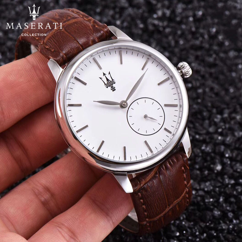 Maserati Wristwatches Real Leather Waterproof Business Watches Casual Automatic Simple Mechanical Watch Gift Party Men 58713698 часы maserati