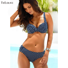 Bikini Set 2019 Push Up Swimwear Women Retro Swimsuit Solid Plus Size Swimwear Vintage Bikinis Women Biquini Bathing Suit M-XXXL