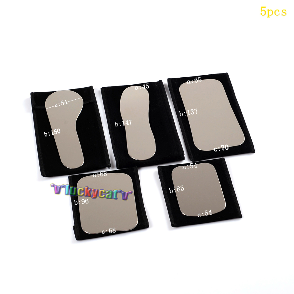 ФОТО 5pcs High Quality Dental Oral Clinic Stainless Steel Photographic Mirror Reflector