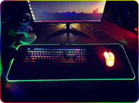 Professional Big LED RGB Gaming Mouse Pad Overwatch Desk Keyboard Mat USB Lighting Computer Mouse World Map Gamer for LOL Dota