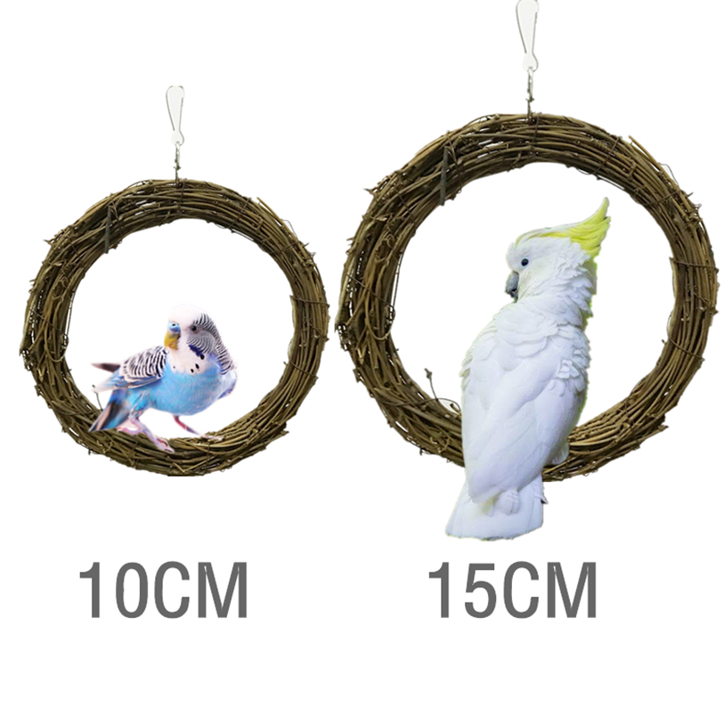 Pet Products Collection Here Bird Hanging Hammock Rattan Bird Ladder Swing Toy Small Pet Tent Bed Cave Bridge Hut House Funny Pet Parrot Chew Toy #f#40dc10 Fixing Prices According To Quality Of Products