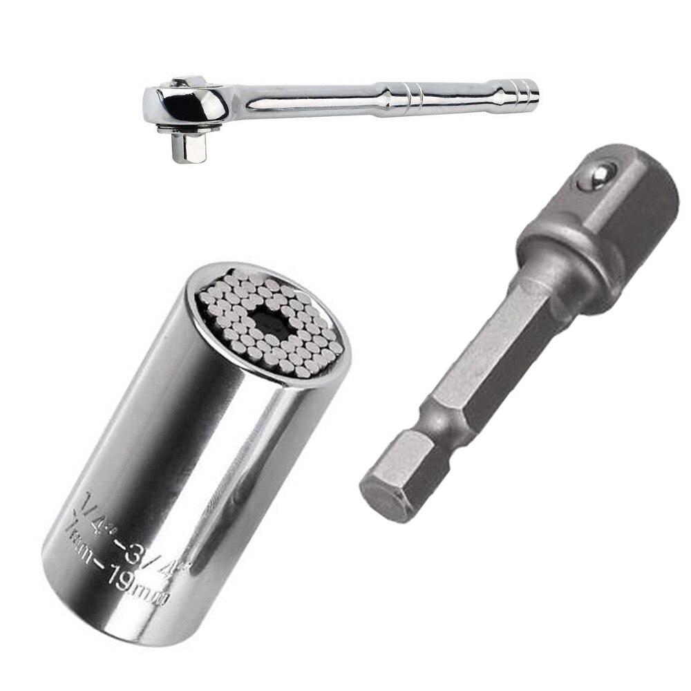 Juego de cabezal de llave Universal multifunción manga de trinquete llave de casa taladro eléctrico taladro de trinquete buje