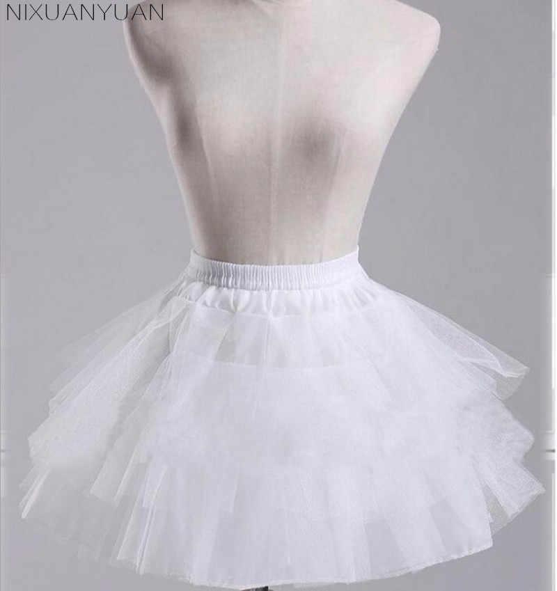 NIXUANYUAN الأبيض أو الأسود تنورات قصيرة 2020 المرأة ألف خط 3 طبقات تنورة لفستان الزفاف jon cerceau mariage