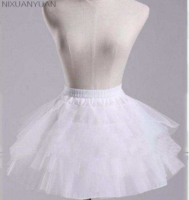 NIXUANYUAN White or Black Short Petticoats 2020 Women A Line 3 Layers Underskirt For Wedding Dress jupon cerceau mariage 3
