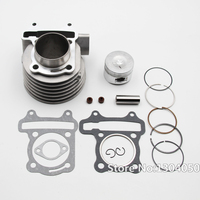 GY6 125cc 52.4mm Cilindro Kit Motor 152QMI 157QMJ Chinês Scooter Moped NOVO