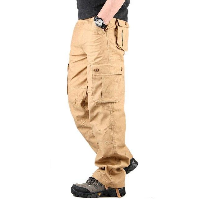 Плюс размер 30-44 Высокого Качества для Мужчин Брюки-Карго Повседневные Мужские Брюки Нескольких Карманный Военная Общие Мужские Длинные Брюки горячие Продажи