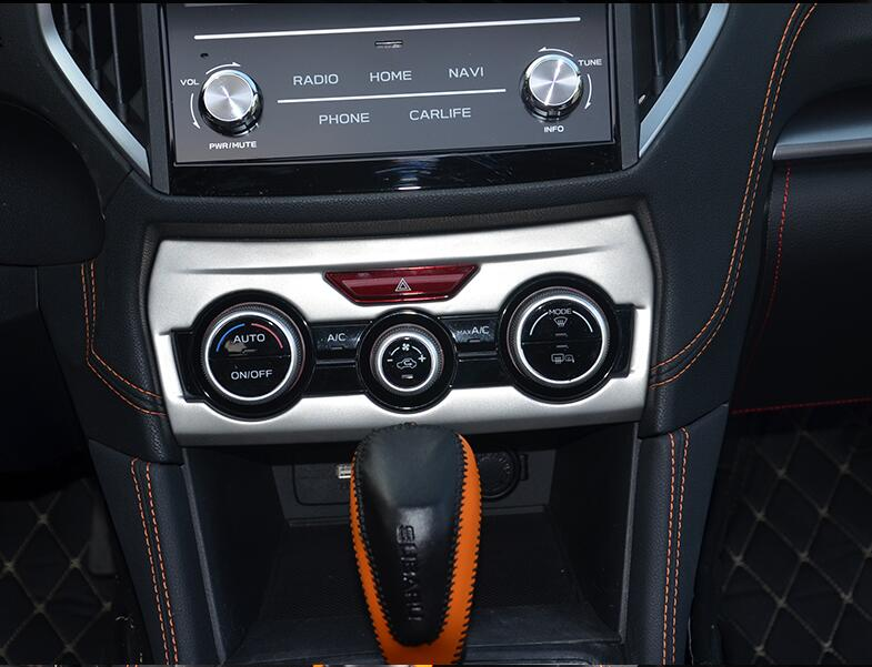 Car Styling 1 PC Luxurious Matte ABS Chrome Air Conditioner Outlet Sticker Frame Cover Trim For <font><b>SUBARU</b></font> <font><b>XV</b></font> <font><b>2018</b></font> Car <font><b>Accessories</b></font> image