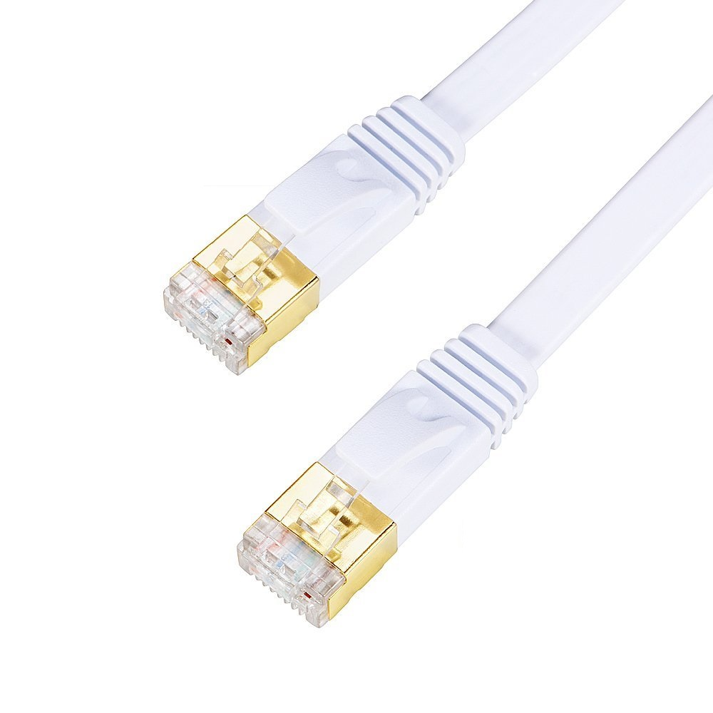 Ethernet Cable CAT7 LAN Network Cable Flat White Lan Cable Patch Cord,1/2/3/15/30M PC Modem Router Laptop Ethernet Cat 7 Cable factory price 50cm cat 7 10 gigabit ethernet cable modem router rj45 for lan network au4 drop shipping drop shipping