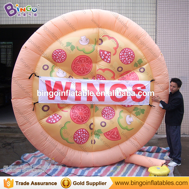 Customized 3 meters giant inflatable pizza replica for promotion Vivid inflatable pizza model for advertising toy pizzaCustomized 3 meters giant inflatable pizza replica for promotion Vivid inflatable pizza model for advertising toy pizza