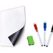 А5 Размер сухой протирать магнитная доска на холодильник магнитная наклейка на холодильник напоминание блокнот белая ручка-маркер для доски мягкий Smartboard