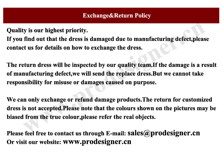 Exchange and Return Policy