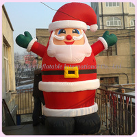 Popular 10FT outdoor airblown yard christmas decoration inflatable santa claus christmas