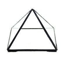 Modern Artistic Clear Pyramid Shape Glass Geometric Terrarium Succulent Fern MossPlant Terrarium Microscape Bonsai Flower Pot