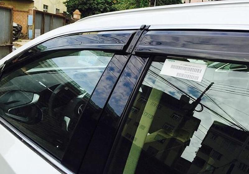 For LEXUS RX200t RX450h 2016 Full Set 4pcs Window Vent Shade Visors Rain Guards Cover Auto Accessories