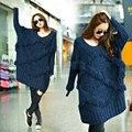 Maternity  tassel batwing sleeve sweater Women Long Sleeve Oversized Ladies Knitted Long Sweater Jumper Winter Casual Dress
