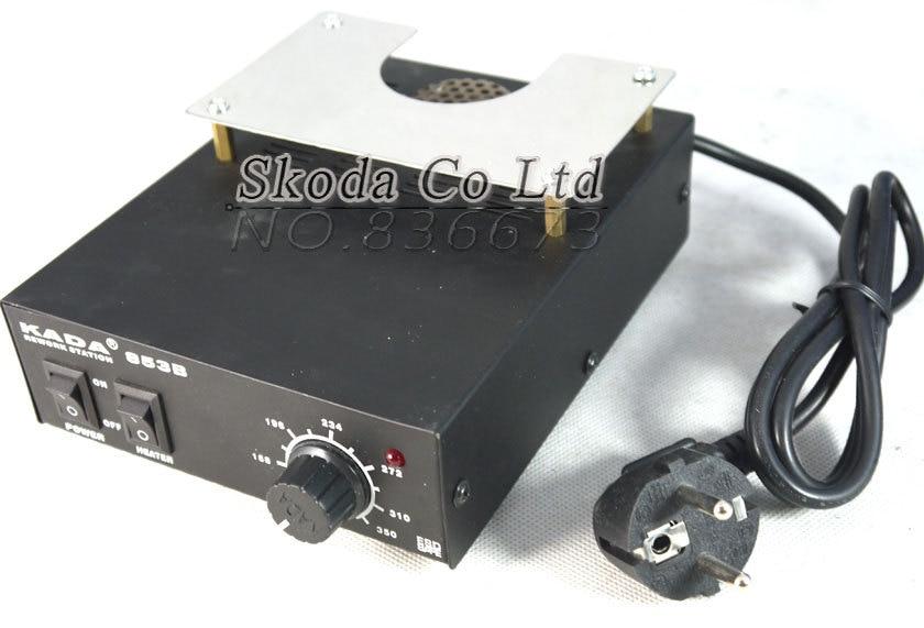 все цены на Kada 853B preheating station BGA rework station for BGA PCB Preheat /heating /desoldering Hot cold air adjustable онлайн