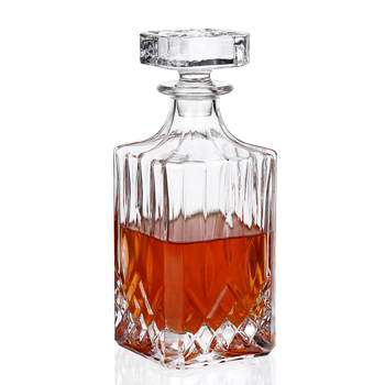 750ml Luxurious Wine Decanters Crystal Diamond Whiskey Glass Bottle for Alcohol Vodka Spirit Drinking for Home Bar Party Wedding