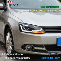 Hireno Car Styling Headlamp For 2012 2016 Volkswagen Jetta Headlight Assembly LED DRL Angel Lens Double