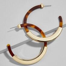 Acrylic Resin Hoop Earrings Acetic Leopard for Women Geometric Big Round Earring Circle Huggie Trendy Fashion Jewelry DDE010
