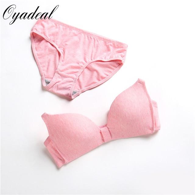 2017 women Simple and fresh massage cup underwear set bra set push up bras Back Closure Diamond Lingerie brief set