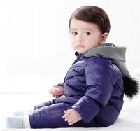 Spring Autumn Winter newborn baby Romper Duck Down Cotton infant snowsuit hooded boys girls Jumpsuit waterproof crawling clothes