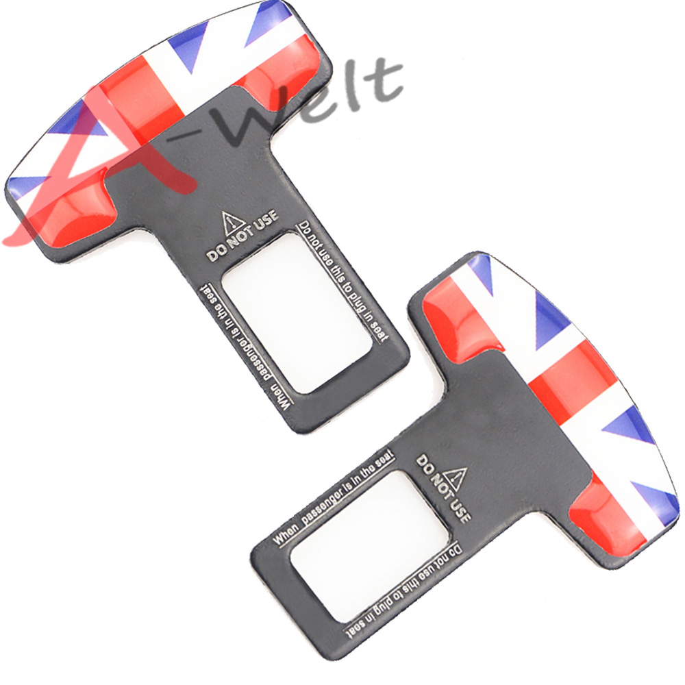 Promotion 2pcs seat belt clip For cooper countryman clubman paceman R50 R52 R53 R55 R56 R57 R59 R60 R61 F55 F56 car accessories