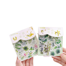 40pcs/pack Beautiful Plant Series Sticker DIY Diary Gift Decoration Kawaii Cute Stickers Scrapbooking Label Student Girl