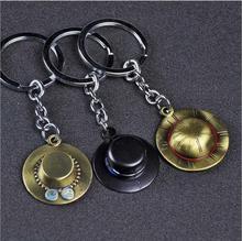 Une pièce jouet chiffres porte-clés charme porte-clés Luffy Zoro Sanji Nami clé porte-anneau Chaveiro pendentif jouet chiffres pour enfant cadeau