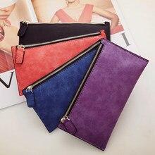 0d7327aed907 AUTEUIL Париж женский кошелек длинные деньги сумки простой стиль кошелек  для монет кожаные тонкие кошельки женские