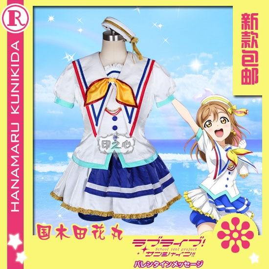 Здесь продается  Anime!Lovelive Sunshine Aqours Jumping Heart Kunikida Hanamaru sj Uniform Dress Cosplay Costume For Women 2018 New Free Shipping  Одежда и аксессуары