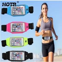 HOTR Gym Running Waist Bag Armband Waterproof Phone Holder Case For iphone X 8 7 7 plus 6 5 Outdoor Sport Jogging Belt Belly Bag