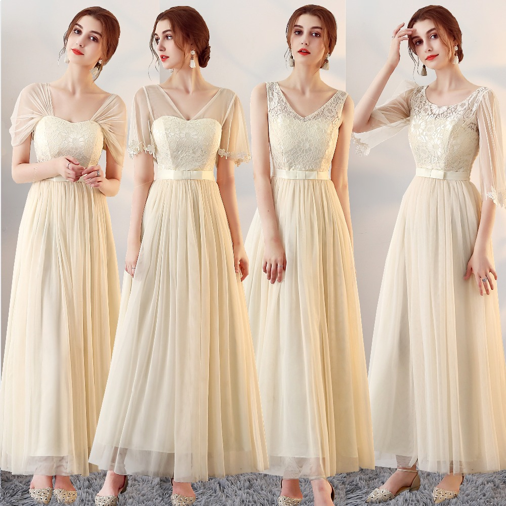 Summer champagne bridesmaid dress half sleeve schoold graduation summer champagne bridesmaid dress half sleeve schoold graduation prom wedding party dresses sw0025 in bridesmaid dresses from weddings events on ombrellifo Images