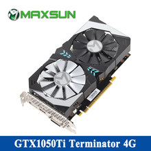 MAXSUN gtx 3,0 ti 4G видеокарта 7000 мГц 128bit GDDR5 16nm NVIDIA PCI-Express 1050X16 HDMI + DP + DVI игровая gtx 1050ti графическая карта(China)