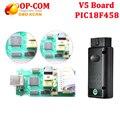 Comop V1.59 com placa de Interface de Diagnóstico op com V5 PIC18F458 V1.59 Ferramenta Auto Diagostic Para Opel Opcom op com OBD2 Scanner