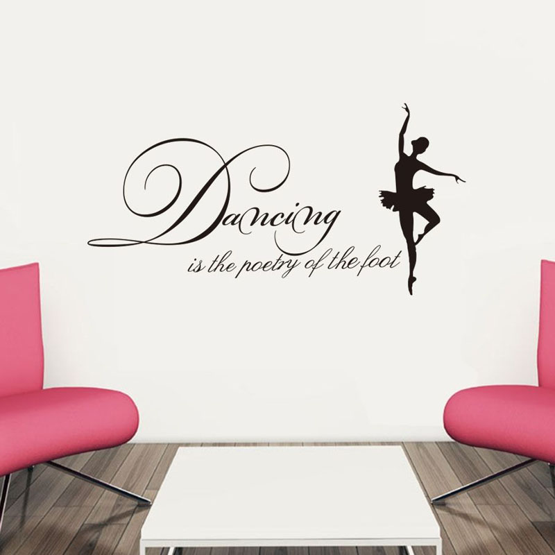 Delightful Dancing Is The Poetry Of The Foot Vinyl Art Wall Decorative Decal Modern  Living Room Hot
