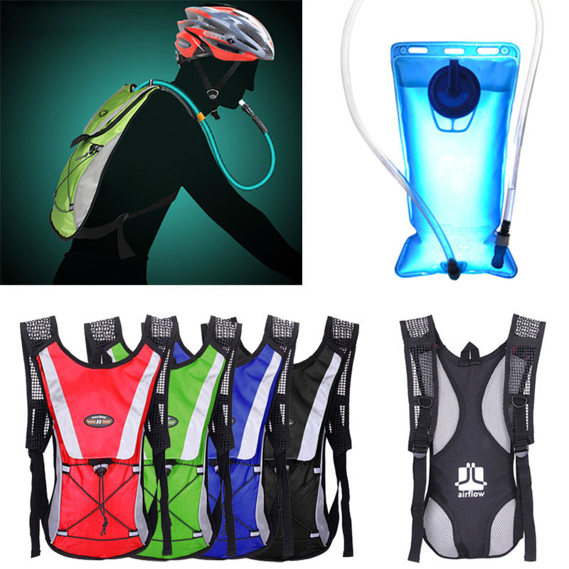 Water Bladder Bag Motorcross Riding Backpack+Hydration Packs Hiking Camping 2L cheap sale hydration water bladder bag cleaning tube hose sucker brushes drying rack set