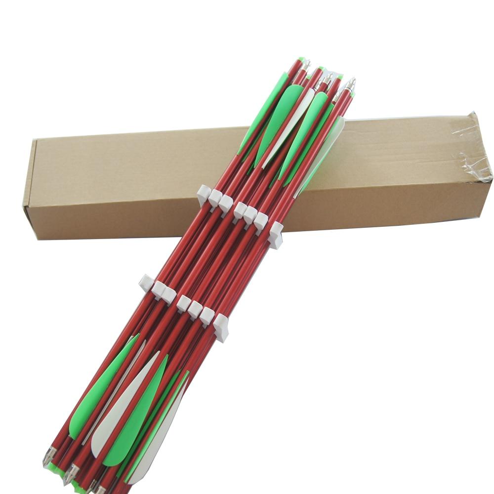 24 PK Archery hunting aluminum arrows 17 aluminum crossbow bolts 3 colors