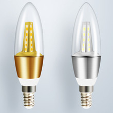 220v candle bulb e14 led e27 8pcs/lot free shipping