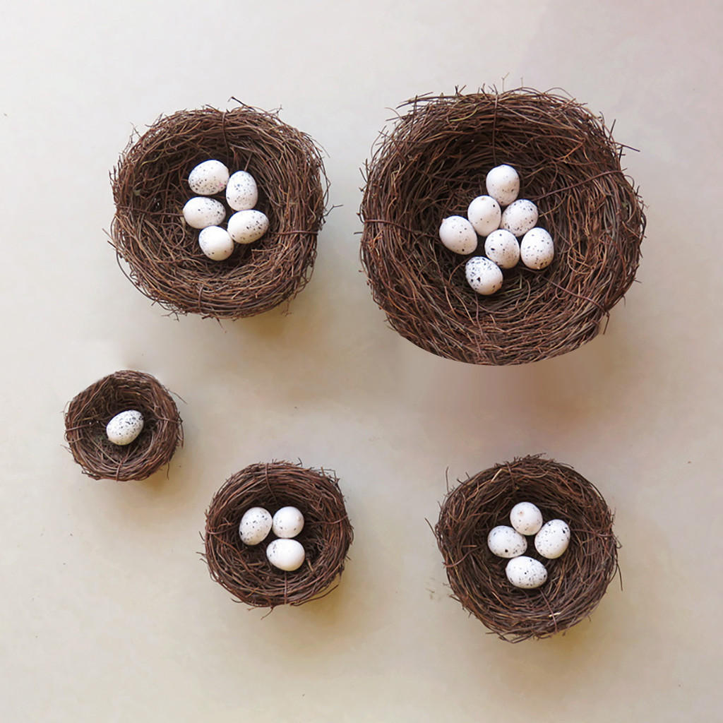 Pet Products Handmade Bird Nest House Home Nature Craft Best For Wedding 5pcs/set Difference Size D90404 Promote The Production Of Body Fluid And Saliva Bird Cages & Nests