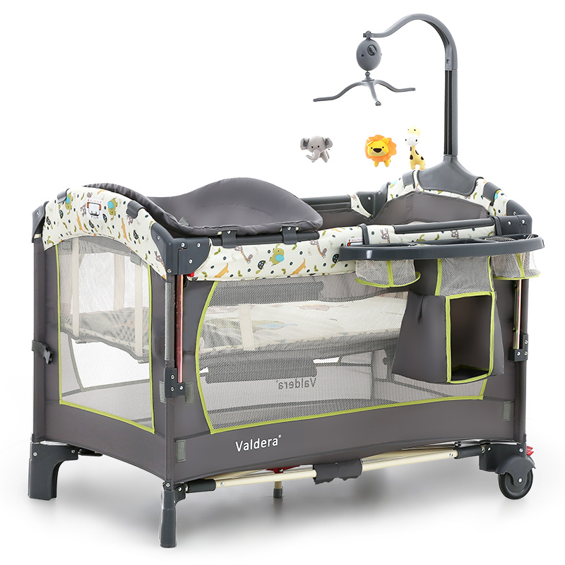Valdera Multi Function Folding Crib European Portable Game Bed  Can Be Docked With The Bed  Baby Bed