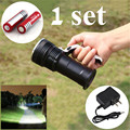 NEW 2000LM CREE LED Rechargeable Flashlight Lamp Torch +2x18650 Battery& Charger